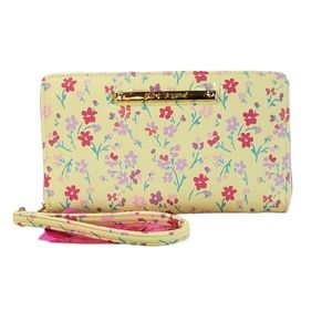 *NWT* Betsey Johnson Floral Yellow Wallet